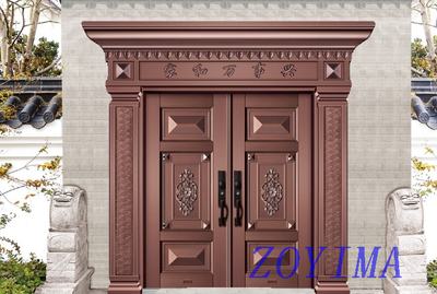 Z0YIMA/ G & K Great Door - Metal Entrance Entry Aluminum Fitting ajoint Door ZYM-P3-4011