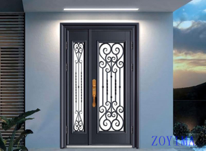 Z0YIMA/ G & K Great Door -Nigeria Luxry Cast Aluminum Flower Glasses Door ZYM-N9060