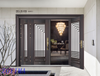 Z0YIMA/ G & K Great Door - Competitive Promotion Lxury Toughened Glasses Stronger Black Doors ZYM-B1019