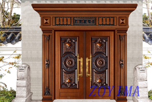 Z0YIMA/ G & K Great Door - Competitive Golden Color Lxury Security Door ZYM-P2-5002