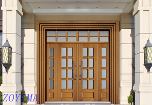 Z0YIMA/ G & K Great Door - Competitive Promotion Lxury Toughened Glasses Stronger Yellow Doors ZYM-B1002