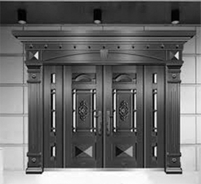 What are the advantages of cast aluminum doors