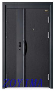 Z0YIMA/ G & K Great Door-Black Two Colors Security Steel Doors Metal Door FT01