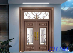 Z0YIMA/ G & K Great Door - Toughened Wrought Iron Glasses Door ZYM-B1029