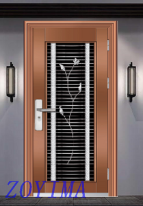 Z0YIMA/ G & K Great Door - Toughened Wrought Stainless Steel Glasses Purple Color Doors ZYM-S105