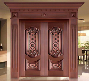 How to maintain a pure copper door