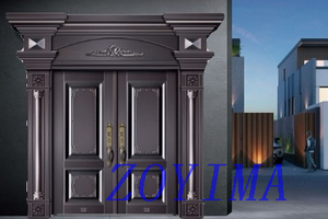 Z0YIMA/ G & K Great Door - Metal Seucrity Door Black Copper Color ZYM-M2035